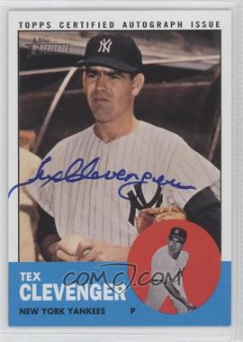 2012 Topps Heritage Real One Certified Autographs [Autographed] #ROA-TC - Tex Clevenger