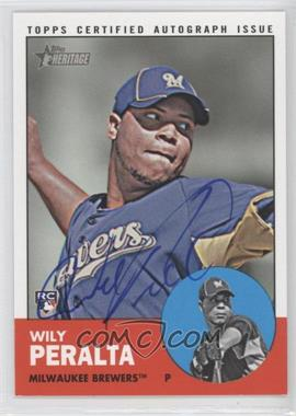 2012 Topps Heritage Real One Certified Autographs [Autographed] #ROA-WP - Wily Peralta