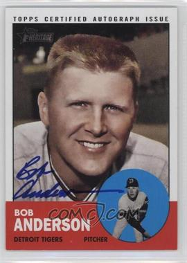 2012 Topps Heritage Real One Certified Autographs #ROA-BA - Bob Anderson