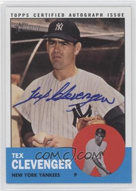 2012 Topps Heritage Real One Certified Autographs #ROA-TC - Tex Clevenger