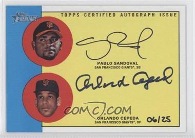 2012 Topps Heritage Real One Dual Certified Autographs #RODA-SC - Pablo Sandoval, Orlando Cepeda /25