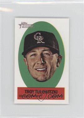 2012 Topps Heritage Stick-Ons #33 - Troy Tulowitzki