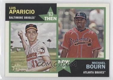 2012 Topps Heritage Then and Now #TN-AB - Luis Aparicio, Michael Bourn