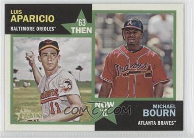 2012 Topps Heritage Then and Now #TN-AB - Luis Aparicio, Michael Bourn