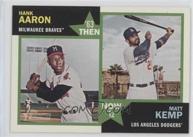 2012 Topps Heritage Then and Now #TN-AK - Hank Aaron, Matt Kemp
