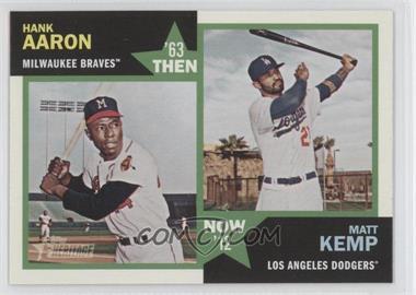 2012 Topps Heritage Then and Now #TN-AK - Hank Aaron, Matt Kemp