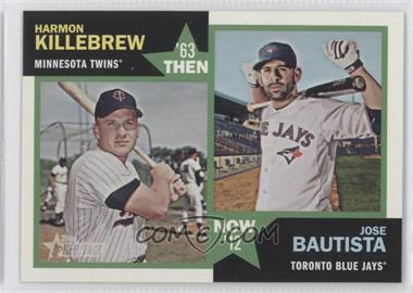 2012 Topps Heritage Then and Now #TN-KB - Harmon Killebrew, Jose Bautista