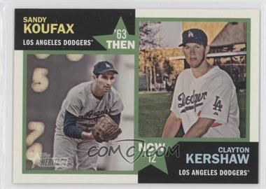 2012 Topps Heritage Then and Now #TN-KK - Sandy Koufax, Clayton Kershaw