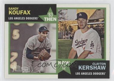 2012 Topps Heritage Then and Now #TN-KK - Sandy Koufax, Clayton Kershaw