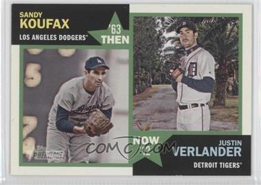 2012 Topps Heritage Then and Now #TN-KV - Sandy Koufax, Justin Verlander