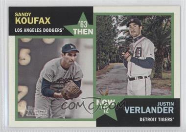 2012 Topps Heritage Then and Now #TN-KV - Sandy Koufax, Justin Verlander