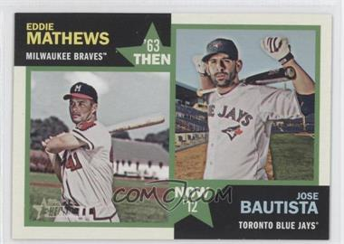 2012 Topps Heritage Then and Now #TN-MB - Eddie Mathews, Jose Bautista
