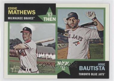 2012 Topps Heritage Then and Now #TN-MB - Eddie Mathews, Jose Bautista