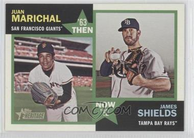 2012 Topps Heritage Then and Now #TN-MS - Juan Marichal, James Shields