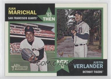 2012 Topps Heritage Then and Now #TN-MV - Justin Verlander, Juan Marichal