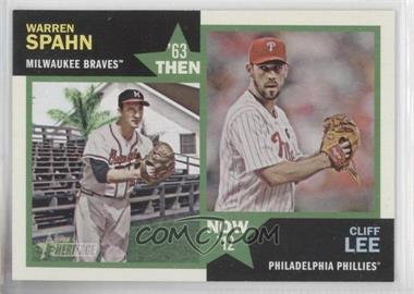 2012 Topps Heritage Then and Now #TN-SL - Warren Spahn, Cliff Lee