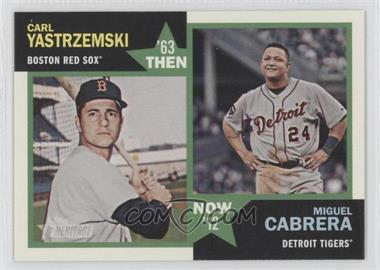 2012 Topps Heritage Then and Now #TN-YC - Carl Yastrzemski, Miguel Cabrera