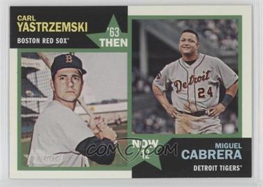 2012 Topps Heritage Then and Now #TN-YC - Carl Yastrzemski, Miguel Cabrera