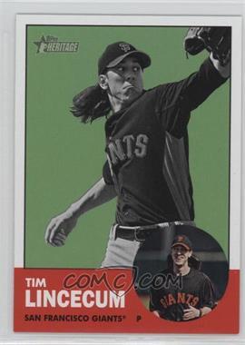 2012 Topps Heritage #106.2 - Tim Lincecum (Image Swap)