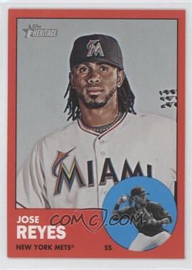 2012 Topps Heritage #174.2 - Jose Reyes (Target Red)