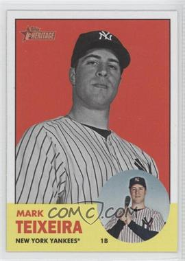 2012 Topps Heritage #183.2 - Mark Teixeira (Red Background)