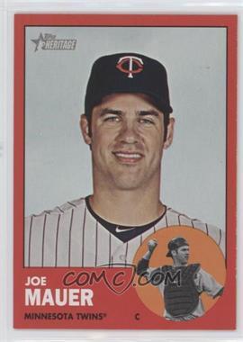 2012 Topps Heritage #186.3 - Joe Mauer (Target Red)