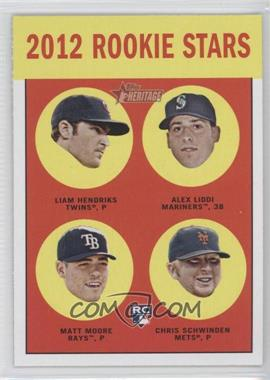 2012 Topps Heritage #191 - Alex Liddi, Matt Moore, Chris Schwinden