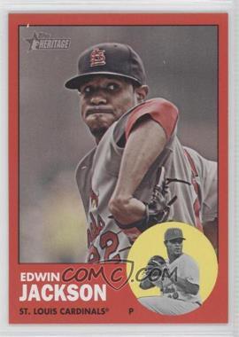 2012 Topps Heritage #22.2 - Edwin Jackson (Red Border Target)