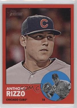 2012 Topps Heritage #260.2 - Anthony Rizzo (Target Red)
