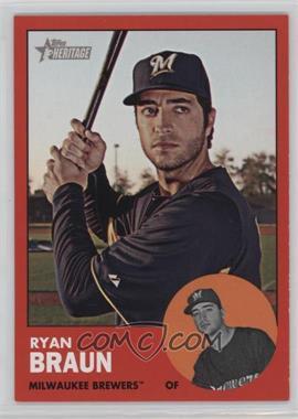 2012 Topps Heritage #276.3 - Ryan Braun (Target Red)