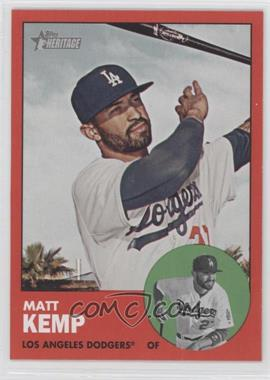 2012 Topps Heritage #279.3 - Matt Kemp (Target Red)