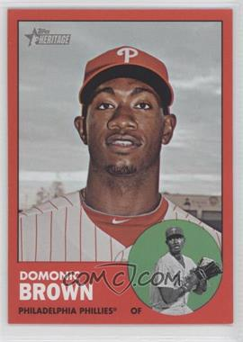2012 Topps Heritage #32 - Domonic Brown (Target Red Variation)