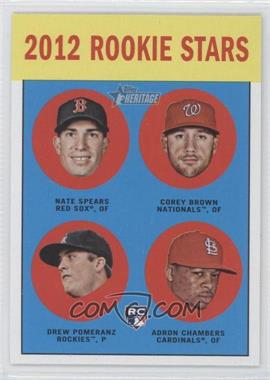 2012 Topps Heritage #321 - Rookie Stars (Nate Spears, Corey Brown, Drew Pomeranz, Adron Chambers)