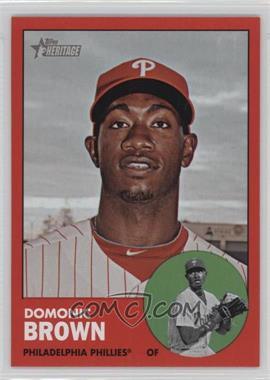 2012 Topps Heritage #32.2 - Domonic Brown (Target Red)