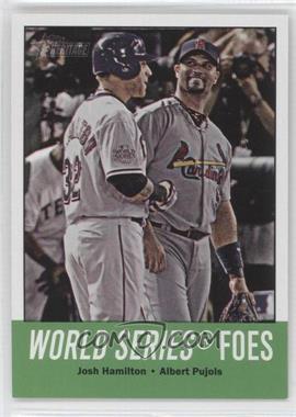 2012 Topps Heritage #331 - World Series Foes (Josh Hamilton, Albert Pujols)