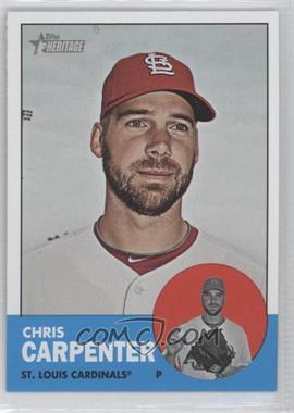 2012 Topps Heritage #415.3 - Chris Carpenter (Color Swap Variation)