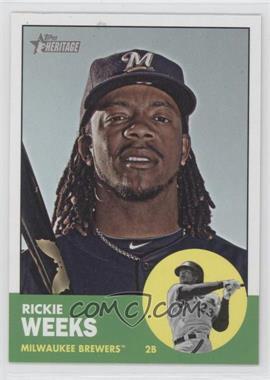 2012 Topps Heritage #433 - Rickie Weeks