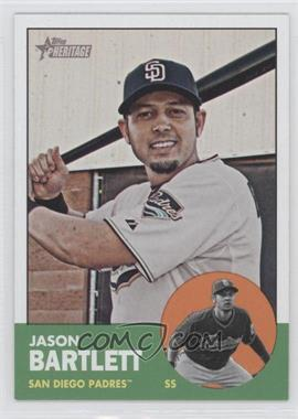2012 Topps Heritage #442 - Jason Bartlett