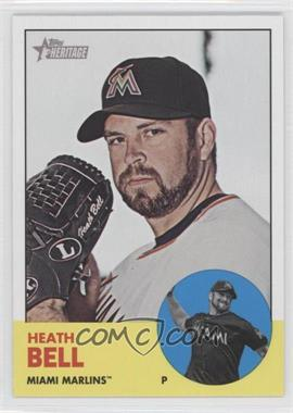 2012 Topps Heritage #448 - Heath Bell