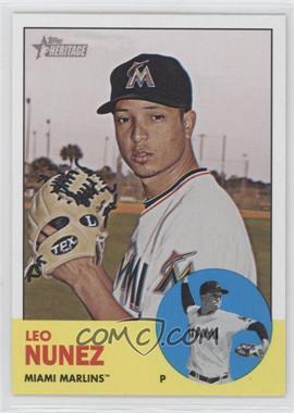 2012 Topps Heritage #450 - Leo Nunez