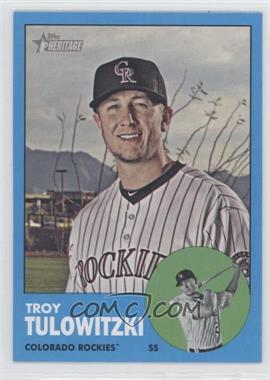 2012 Topps Heritage #453.3 - Troy Tulowitzki (Wal-Mart Blue)