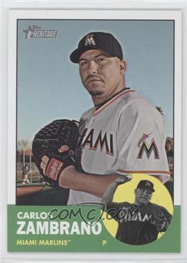 2012 Topps Heritage #473 - Carlos Zambrano
