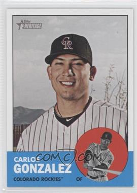 2012 Topps Heritage #480.1 - Carlos Gonzalez (Base)
