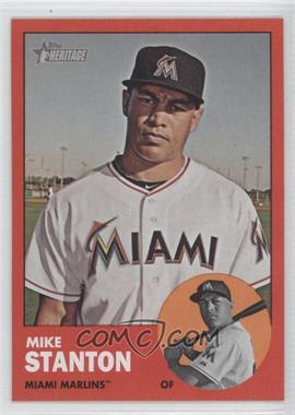 2012 Topps Heritage #483.4 - Mike Stanton (Target Red)