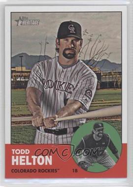 2012 Topps Heritage #484 - Todd Helton