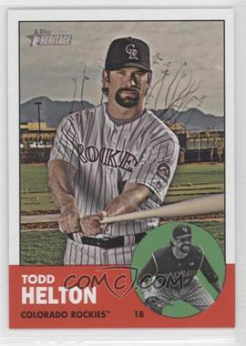 2012 Topps Heritage #484 - Todd Helton