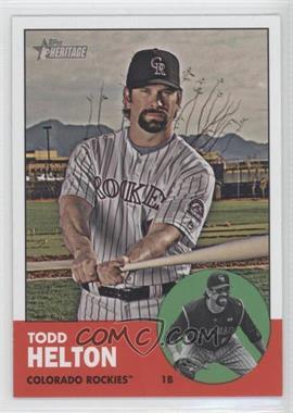 2012 Topps Heritage #484.1 - Todd Helton (Base)