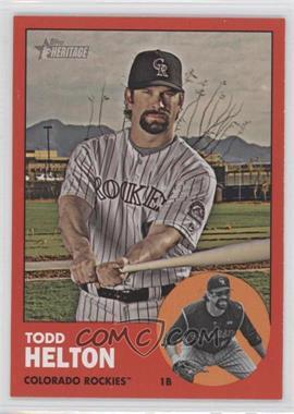 2012 Topps Heritage #484.2 - Todd Helton (Target Red)