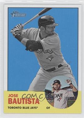 2012 Topps Heritage #489 - Jose Bautista (Image Swap Variation)