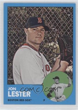 2012 Topps Heritage #76 - Jon Lester (Wal-Mart Blue Variation)